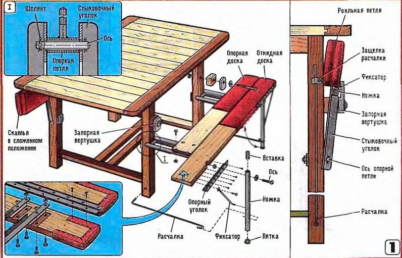 Откидная скамейка в баню своими руками - Visit-petersburg.com