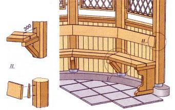 Как сделать скамейки в беседки своими руками