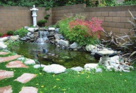 Искусственный водоём - украшение сада