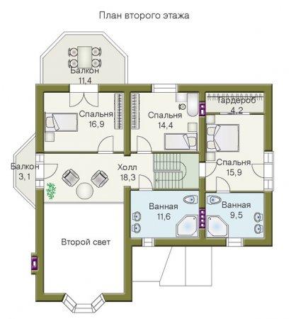 Ремонт и планировка второго этажа дачного домика