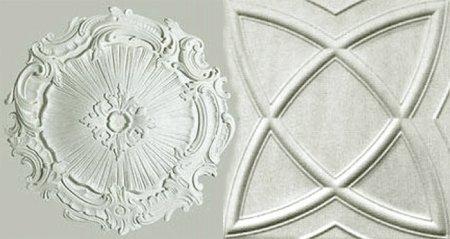 Потолочные плитки из штампованного пенополистирола «Стандарт»