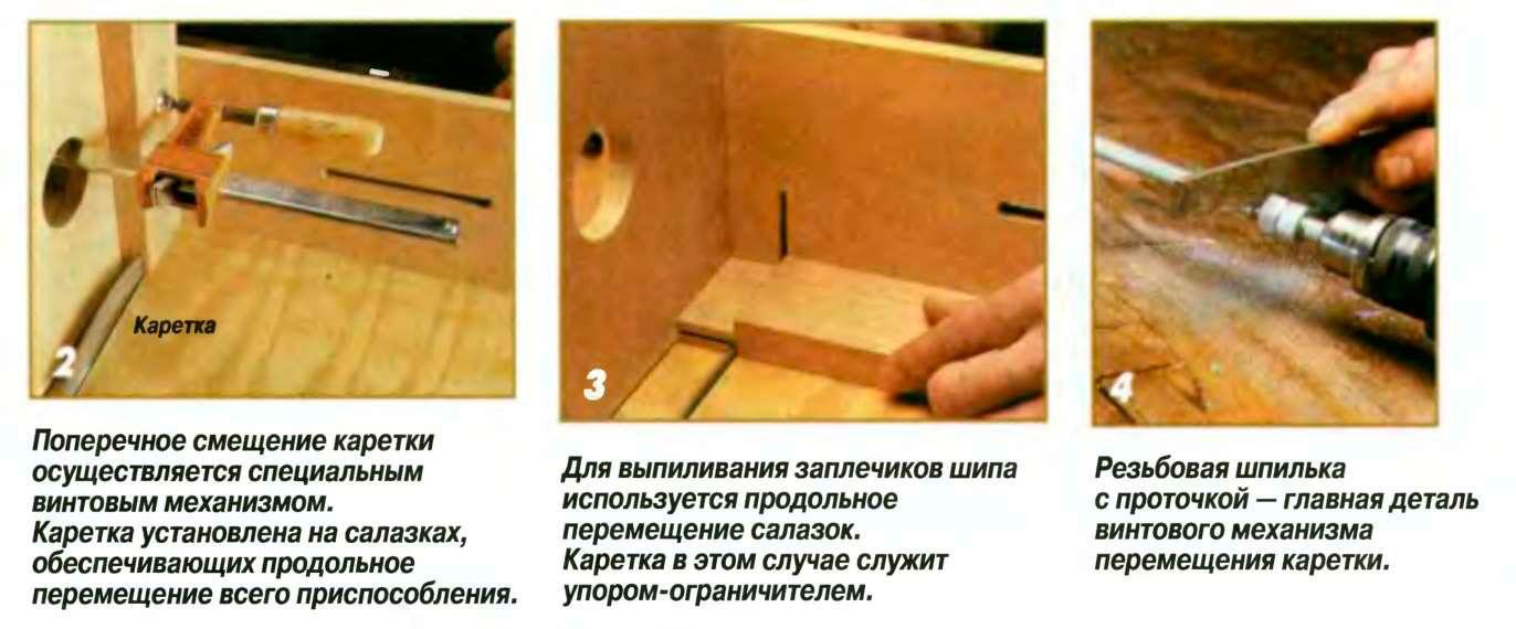 Своими руками приспособление для нарезки шипов
