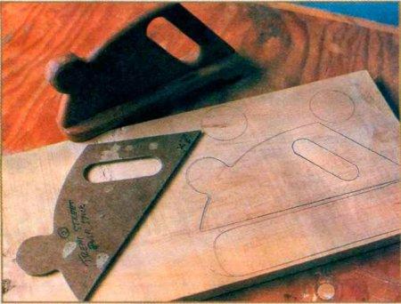 Двуручный толкатель для электрорубанка