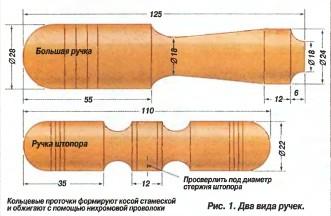 Деревянная ручка для инструмента