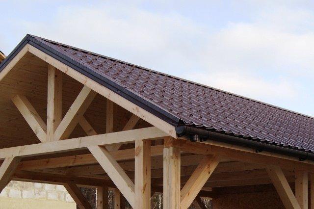 Построить крышу гаража фото