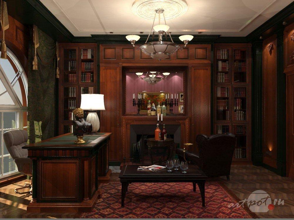 Интерьер для кабинета в доме