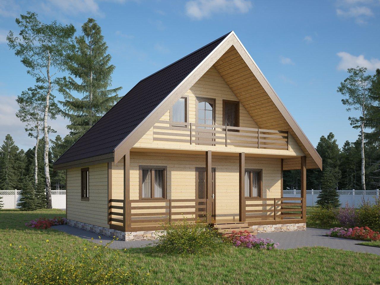 Построить дачный домик из бруса 24