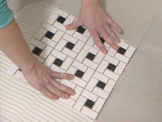 Install mosaic tile floor