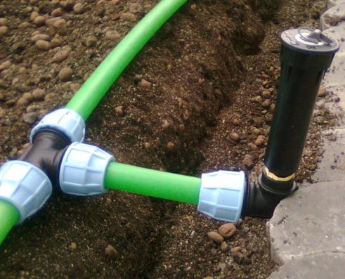 Трубопровод для полива на даче