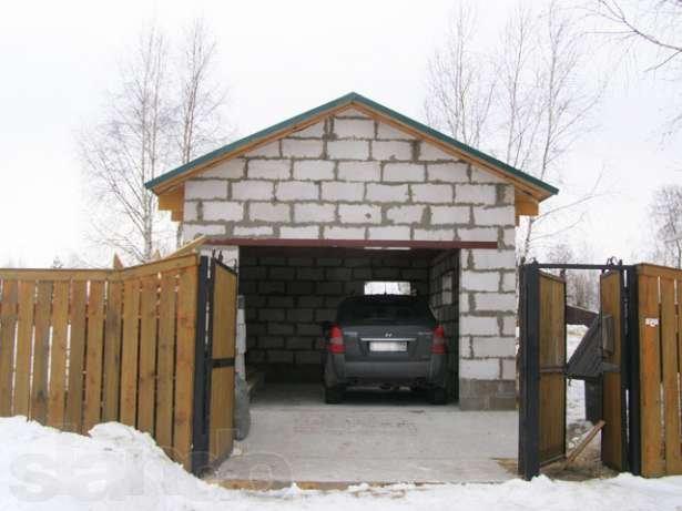 Как сделать гараж к дому своими руками видео