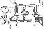 Советы по составлению схемы канализации частного дома
