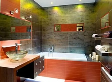 Ремонт в ванной: применение керамогранитной плитки