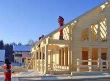Зимние строительство дома