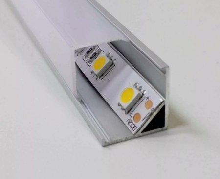 Алюминиевый угловой LED профиль