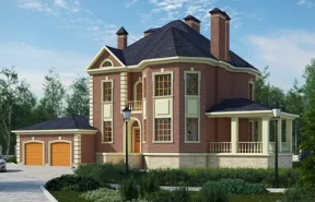 Проекты кирпичных домов, проекты кирпичных коттеджей