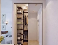 Размещение холла, коридора, кладовая и шкафы