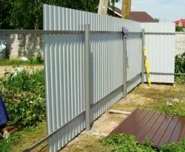 Строим забор из профнастила в 8 шагов